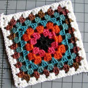 A crochet granny sqaure