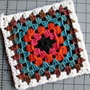 A crochet granny square