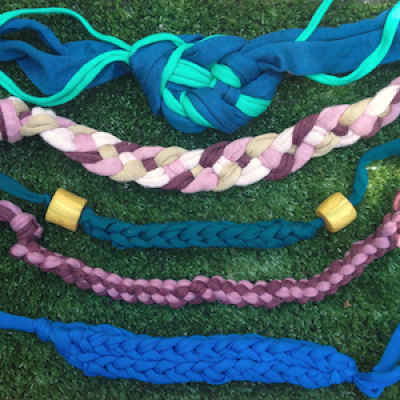 Four Handwoven Necklaces