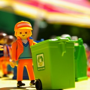 A Lego refuse collector.