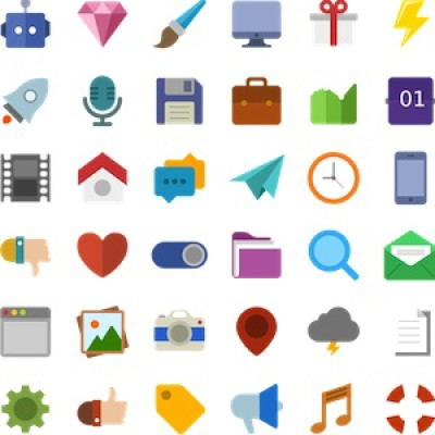 A selection of designed icons