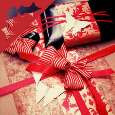 Origami Christmas Gift Wrapping