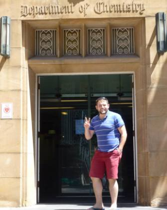 Mark stood outside the Department of Chemistry building at the University of Melbourne