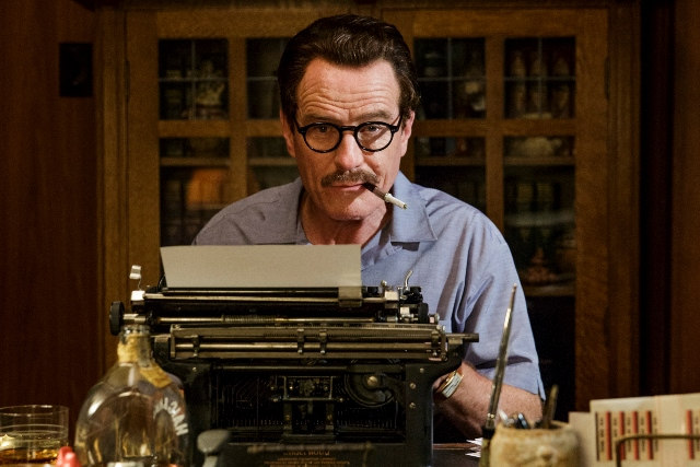 Image from the film, with Dalton Trumbo at his typewriter