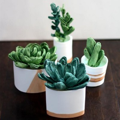 Make Your Own Mini Paper Succulent