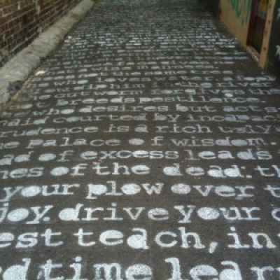 In The Poetry Laneway