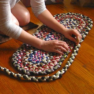 Making a colourful rug