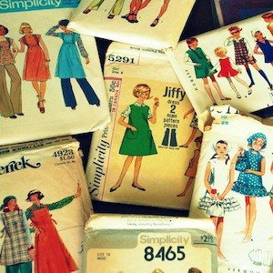Vintage clothing pattern packs