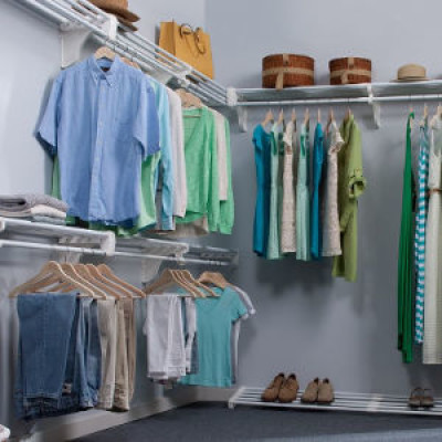 A tidy and organised wardrobe