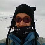 Lucie Bradley in Antarctica