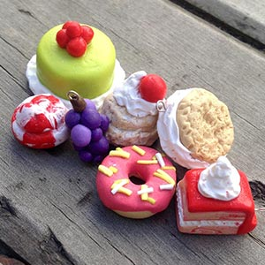 Mini cakes made out of polymer clay