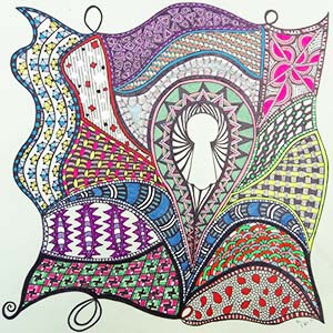 A zentangle drawing