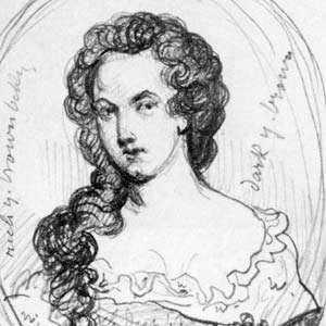 A sketch of Aphra Behn by George Scharf.