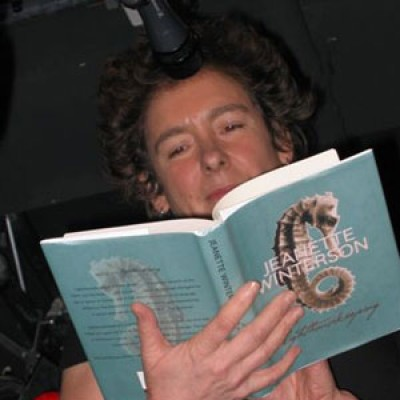 Jeanette Winterson at a book reading