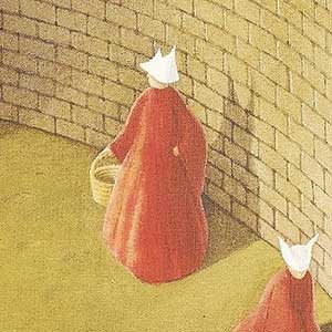 The cover to Atwoods' A Handmaid's Tale