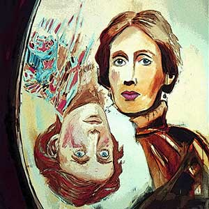 An artist's impression of Virginia Woolf.
