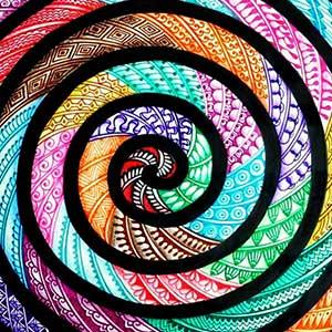 A bright mandala pattern.
