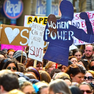March for feminism in Toronto
