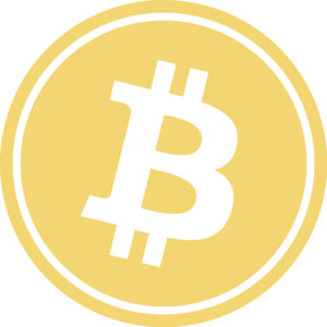 The Bitcoin logo.