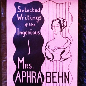 A book cover for Selected Writings of the Ingenious Mrs Aphra Behn.