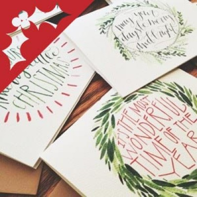 Watercolour Christmas cards.