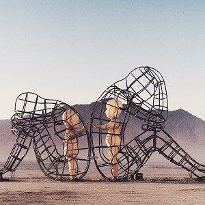 figures in the desert