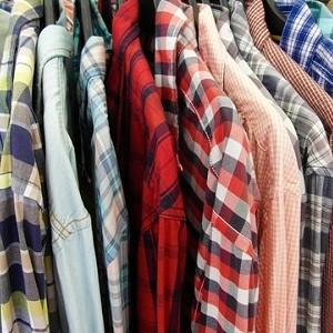 mens shirts on a rack