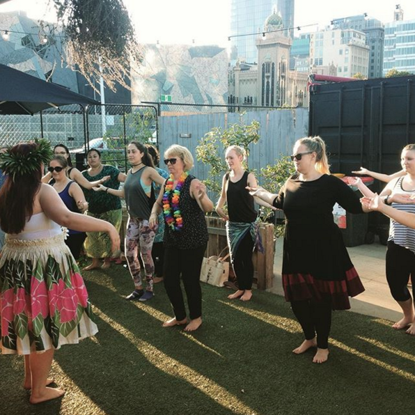 hens' parties dancing hawaiian hula