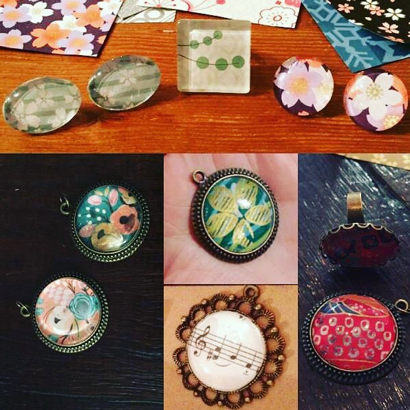 paper and glass jewellery