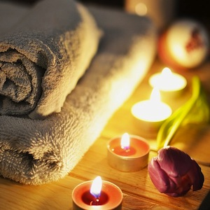 Candles Massage Therapy Towels Relaxation Treatment