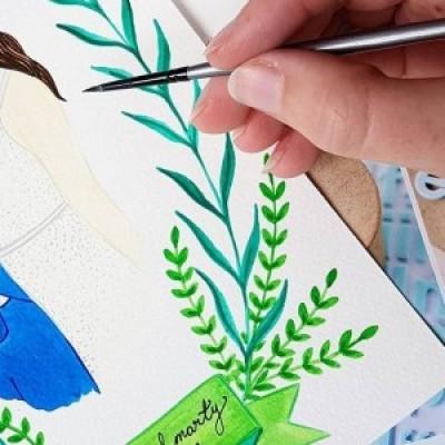 Contemporary Watercolours: Floral Motifs