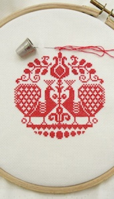Cross Stitch Christmas Ornaments with Natalia