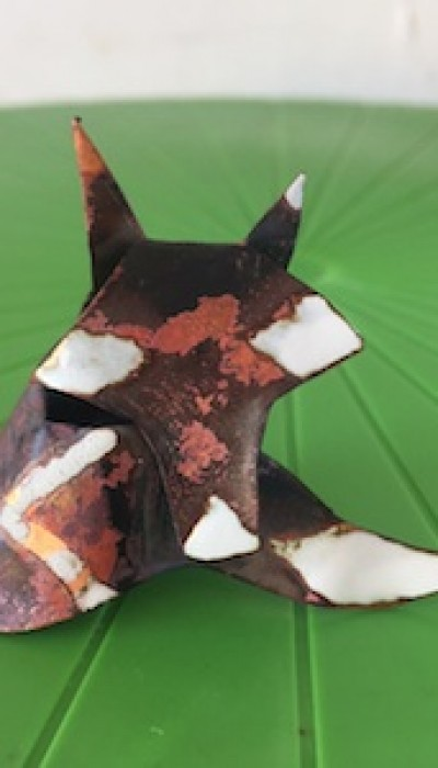Metalwork and Enameling: Copper Fox with Gordon