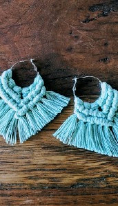 Make your own Macrame Earrings