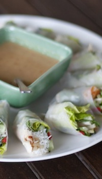 Vegetarian Rice Paper Rolls with Natalia