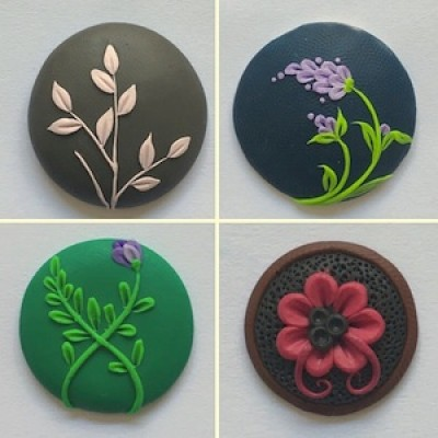 Polymer Clay Flower Art with Kelzang