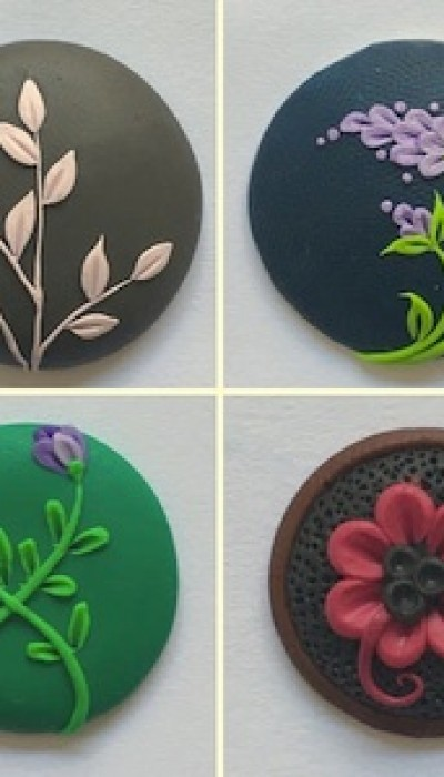 Polymer Clay Flower Art