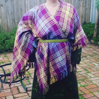Sew an Upcycled Blanket Cape for Winter with Clare