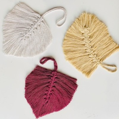 Macramé Feathers and Tassels