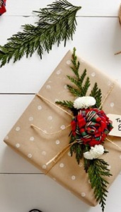 Unique Gift Wrap Using Natural Elements with Sara