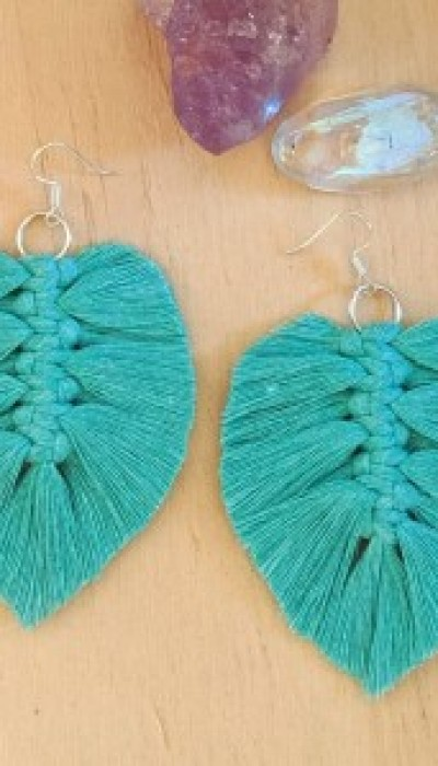 Make your own Macrame Feather Earrings with Sneha