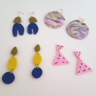 Big Bold Polymer Clay Earrings with Emilie