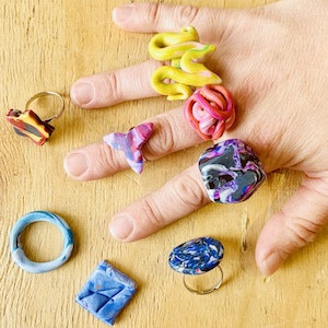 polymer clay rings