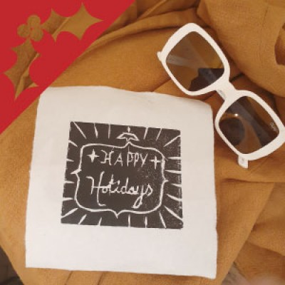 Woodblock Printing: Christmas Cards with Emilie