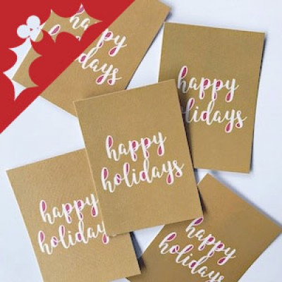Christmas Calligraphy Cards with Rachel ONLINE