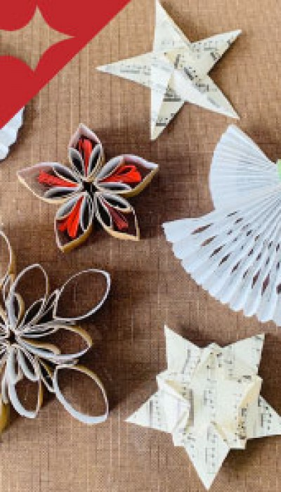 Vintagey Upcycled Ornaments with Robyn