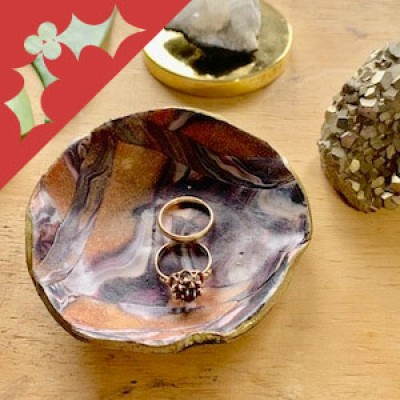 Handmade gifts: Polymer Clay Ring Dish with Emilie