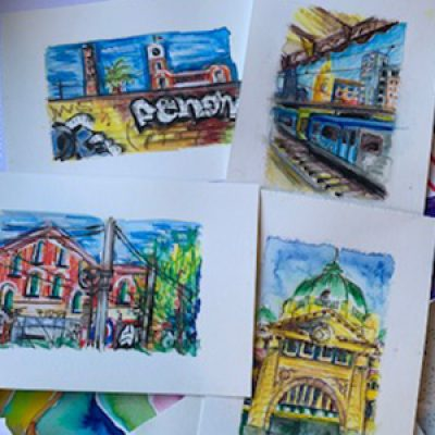 Urban Sketching with Featured Artist Nicole ONLINE