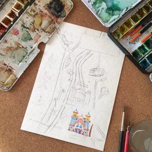 watercolour map