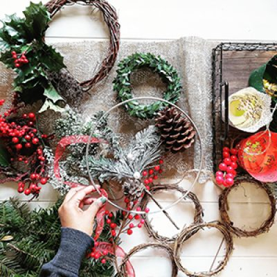 Make Your Own Christmas Door Wreath with Emily